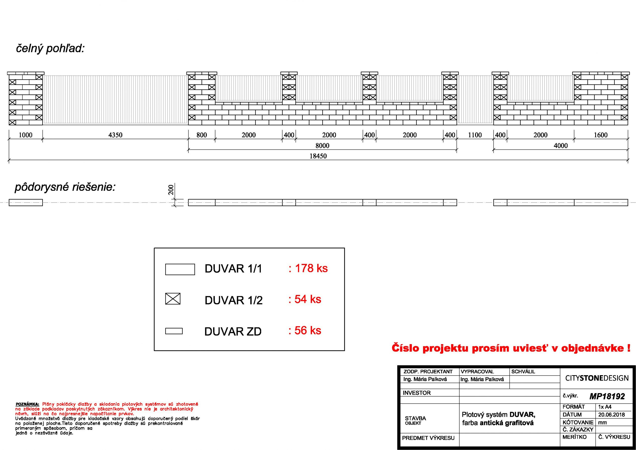 planovanie plota duvar v CAD