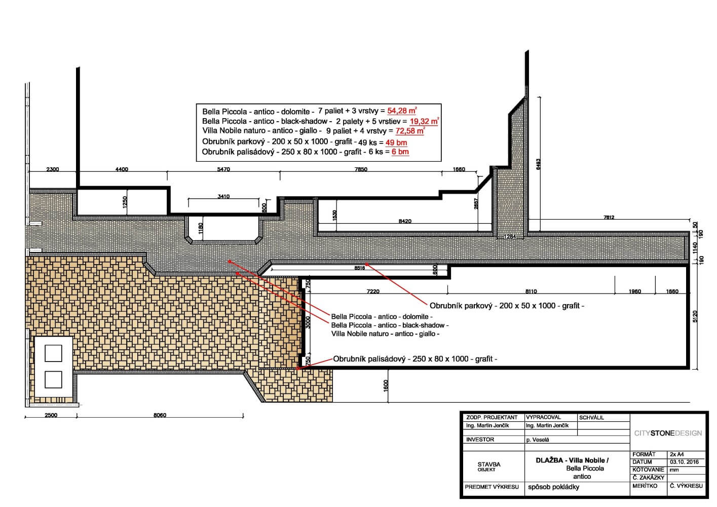 projektovanie city stone design ukazka